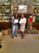 Starkishia (left) received her Best Literature Award