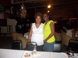 Meredith C. McGee with the late Stephanie Parker Weaver