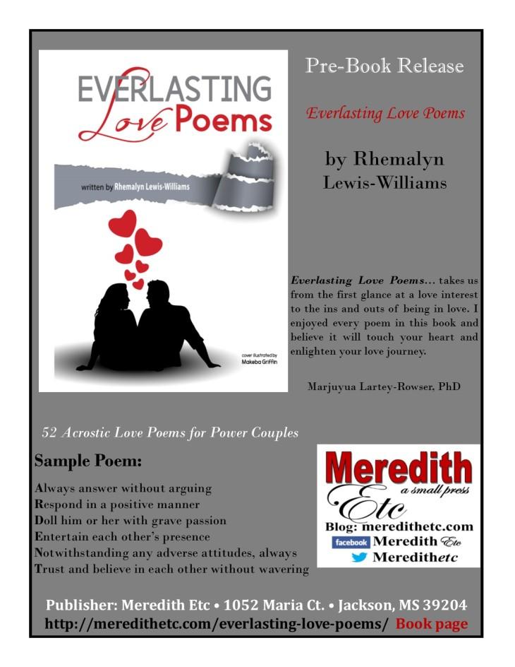 Everlasting Love Poems New Release
