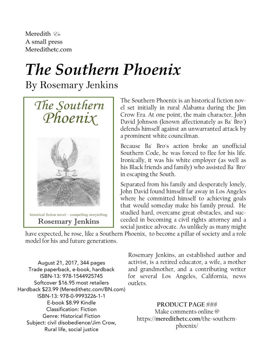 Southern Phoenix Product Page