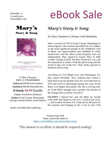 Mary's Story and Song Product Page