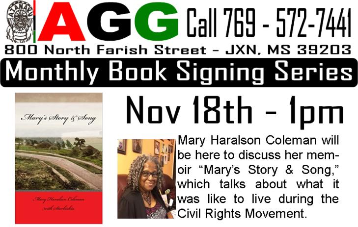 book reading #1 Mary's Story