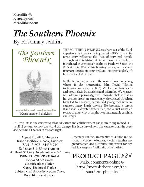 Southern Phoenix Product Page