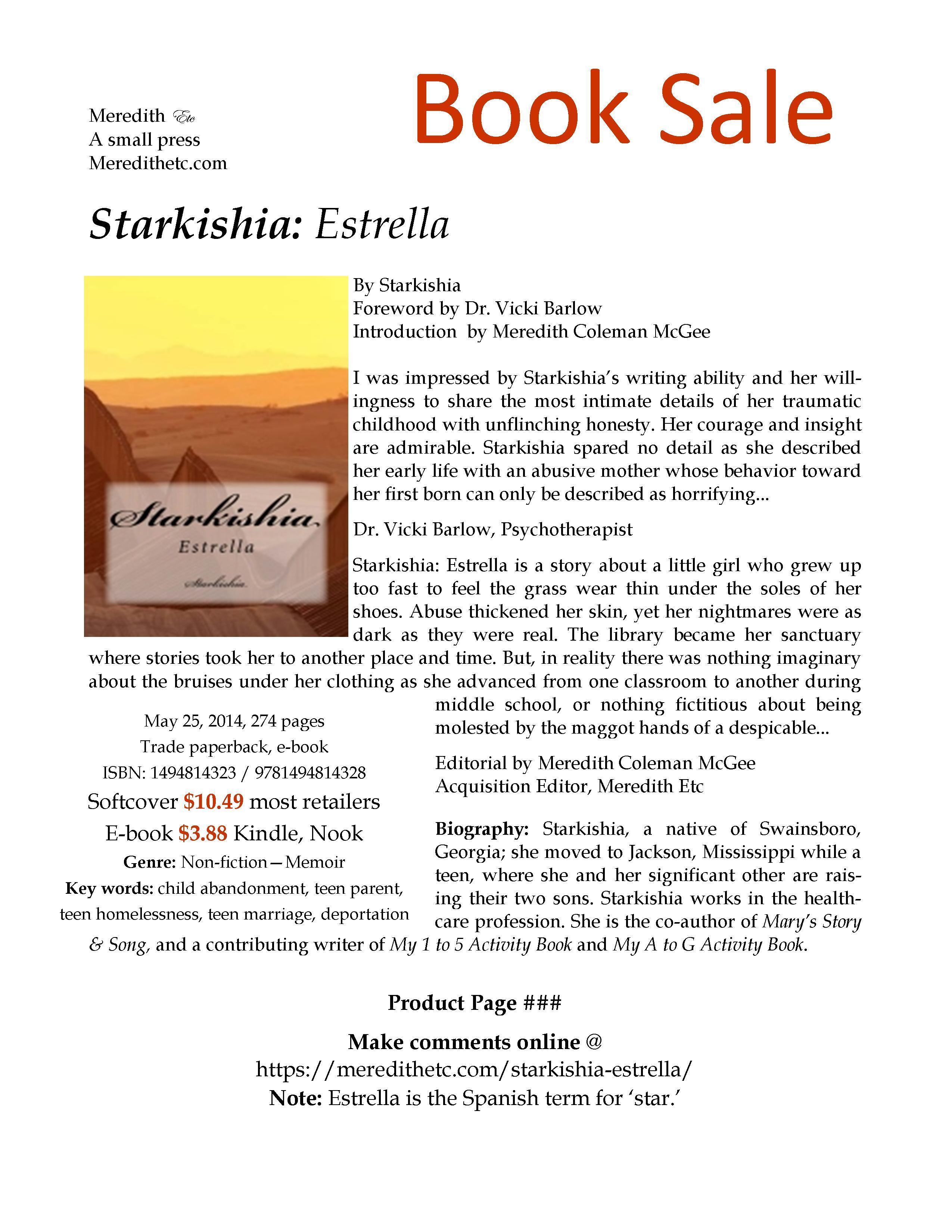 Starkishia: Estrella, a great memoir