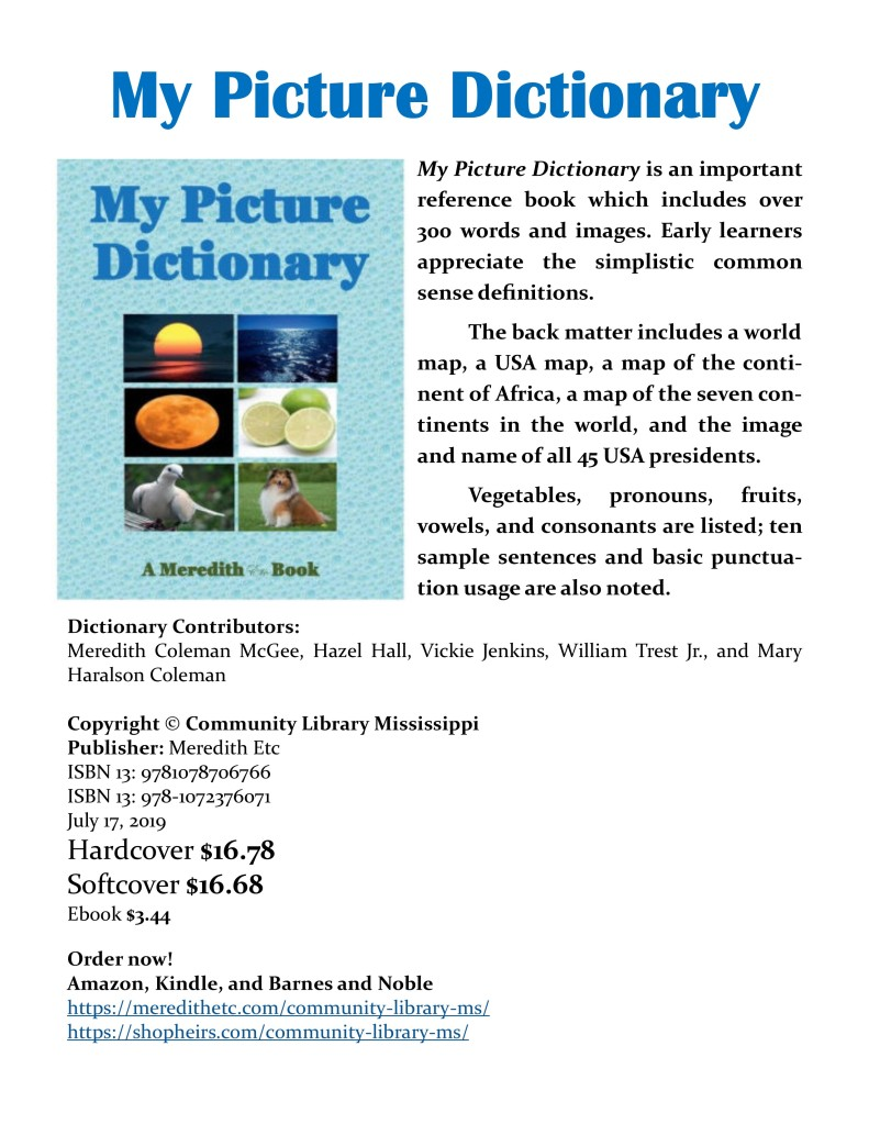 My Picture Dictionary by Meredith Coleman McGee, Vickie Jenkins, et al.