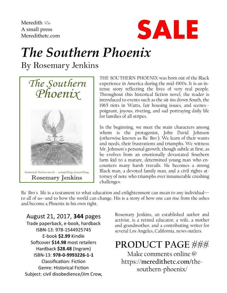 The Southern Phoenix, great historical fiction by Rosemary Jenkins